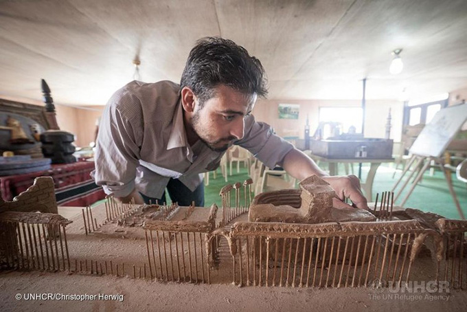 Preserving the memory. UNHCR/Christopher Herwig