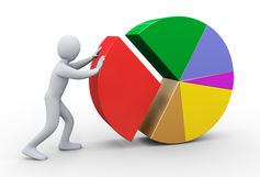 Technically, ISAs are not loans. Pie chart image via www.shutterstock.com