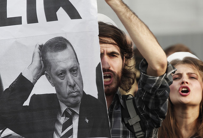 University students protest against Turkey's higher education board. Osman Orsal/Reuters