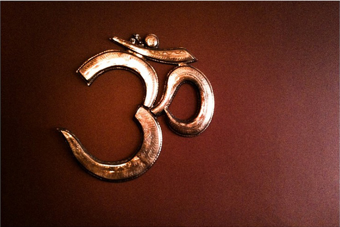 The Indian sacred symbol, om. anji barton