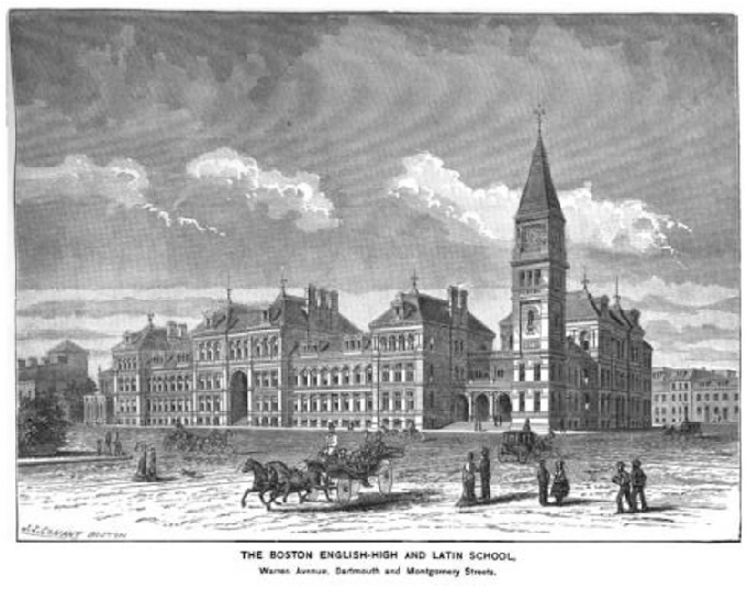 Massachusetts was the first state to offer tuition-free schooling for all students. Artist: George Clough / Wikipedia