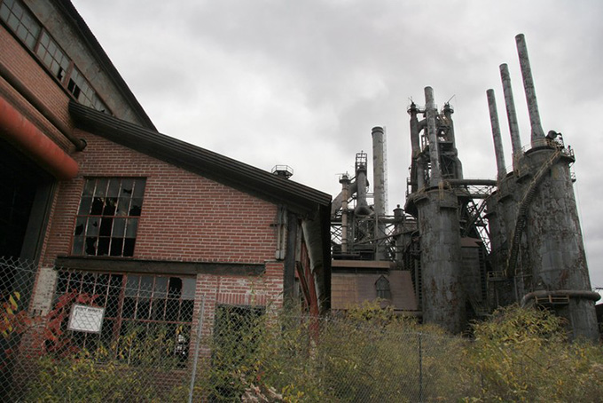 When this photo was taken in November of 2005, the former Bethlehem Steel plant in Bethlehem, Pennsylvania stood on the grounds of the nation's largest abandoned industrial site. AP Photo/Rick Smith